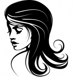 glamour girl with black hairs vector image vector image