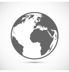 Globe icon on gray vector