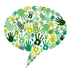 Go green hands communication vector image vector image