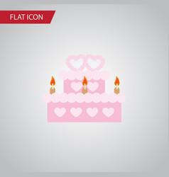 Isolated wedding cake flat icon patisserie vector