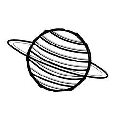 Line exploration uranus planet in the galaxy space vector