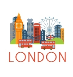 London classic toristic scenery vector