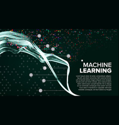machine learning background analytics vector image vector image