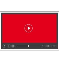 Modern web flat video player interface - vector