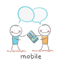 people are talking about mobile vector image vector image
