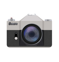 retro style camera vector image