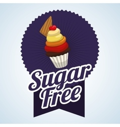 Sugar free design candy concept sweet icon vector