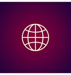World Globe Icon pictogram icon vector image vector image