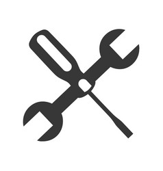 Wrench and screwdriver mechanic tools icon vector