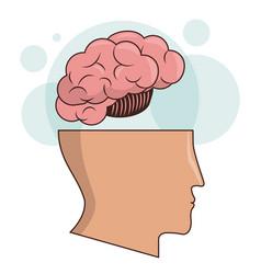 Human head brain memory intelligence image vector