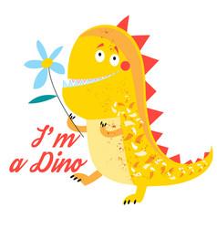 Brightly amusing dinosaur vector