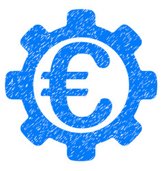Euro payment options grunge icon vector