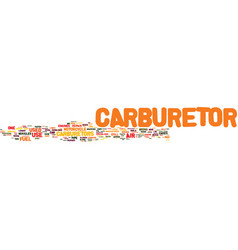 The carburetor will it last text background word vector