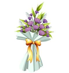 A boquet of violet flowers vector image