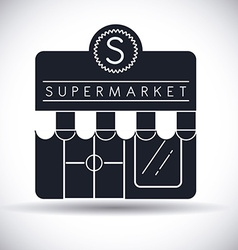 Supermarket store design vector