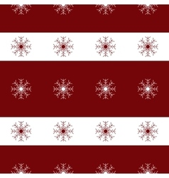 White christmas snowflakes red seamless pattern vector