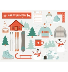 Happy winter vector