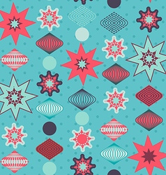Retro christmas decorations seamless pattern vector