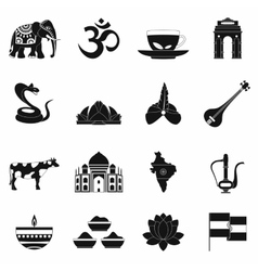India icons black vector