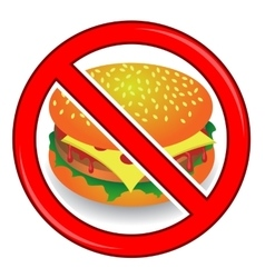 No cheeseburger sign isolated vector