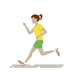 Woman running isolated vector