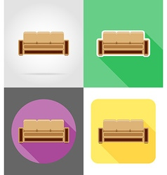 Furniture flat icons 10 vector