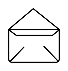 Envelope isolated icon design vector