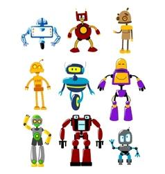 Abstract mechanical robots vector