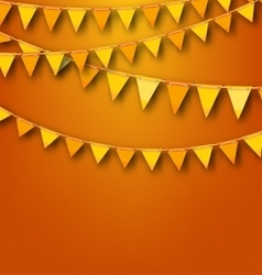 Autumnal Decoration with Orange and Yellow Bunting vector image vector image