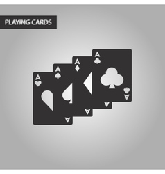 black and white style playing card vector image