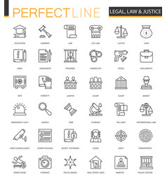black classic web law and justice icons set vector image vector image