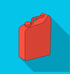 Canister for gasolineoil single icon in flat vector