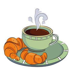 Cartoon image of espresso vector