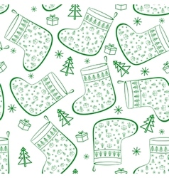 Christmas Stockings Seamless vector image vector image