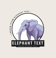 Corporate logo with an elephant vector