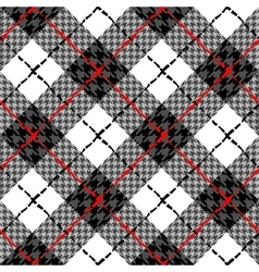 Diagonal plaid background vector image vector image