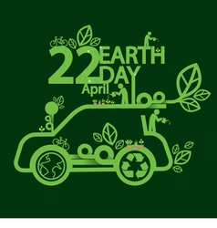 Earth day ecologic driving concept vector