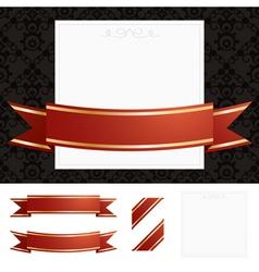 Frame gold ribbon vector