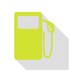 Gas pump sign pear icon with flat style shadow vector