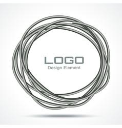 Hand Drawn Ware Circle logo design element vector image