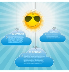 Happy Sun background vector image vector image