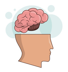 Human head brain memory intelligence image vector