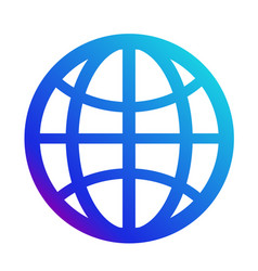 Icon internet symbol of the website globe sign vector