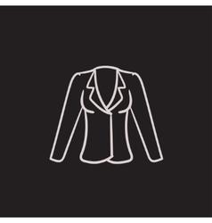 Jacket sketch icon vector image vector image
