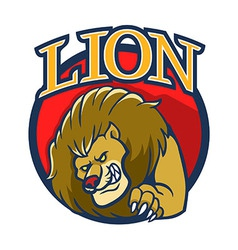 Lion Mascot2 vector image vector image