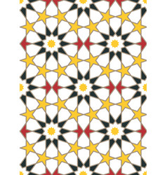 moroccan style mosaic ornament vector image vector image