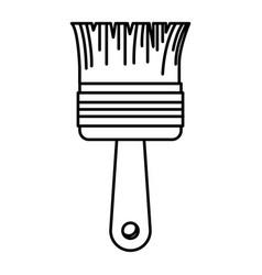 paint brush icon monochrome silhouette vector image