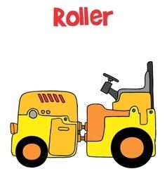 Roller transportation cartoon art vector image vector image