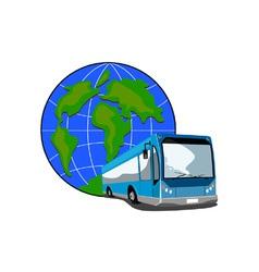Shuttle Coach Bus Retro vector image