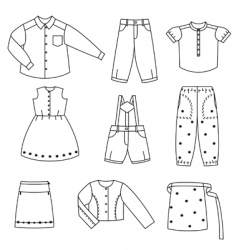 silhouette of the clothes vector image